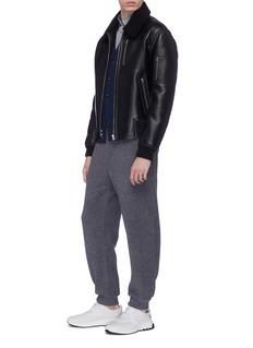 Stella McCartney 'Liam' faux shearling and leather biker jacket
