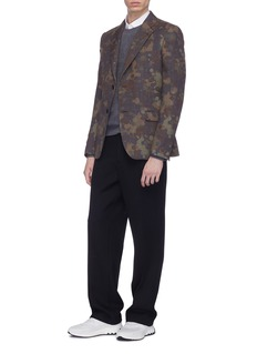 Stella McCartney 'Bobby' camouflage print wool houndstooth check plaid blazer