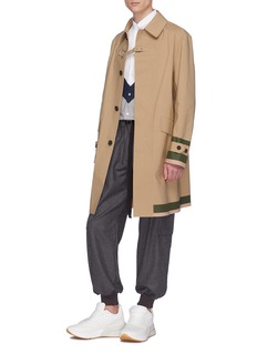 Stella McCartney 'Luther' stripe cuff buckled Mackintosh