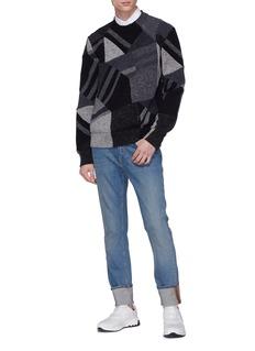 Stella McCartney Geometric intarsia virgin wool sweater