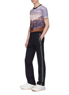 Stella McCartney 'Ivan' stripe outseam wool suiting pants