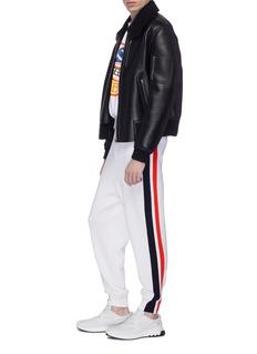 Stella McCartney Stripe outseam virgin wool jogging pants