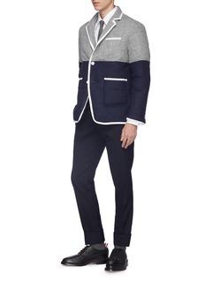 Thom Browne Colourblock wool down puffer soft blazer