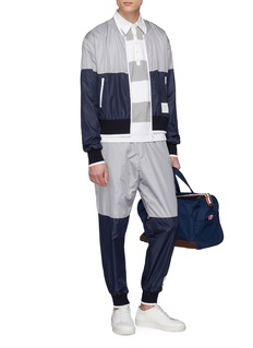 Thom Browne Colourblock ripstop bomber jacket