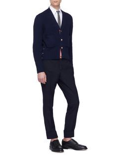 Thom Browne Patch pocket wool rib knit cardigan