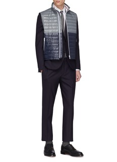 Thom Browne Colourblock down puffer vest