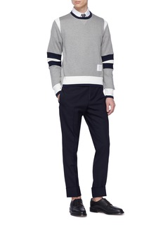 Thom Browne Colourblock sleeve knit sweatshirt