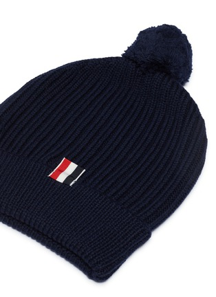 ... Detail View - Click To Enlarge - Thom Browne - Pompom wool rib knit  beanie save ... f2a74115995c