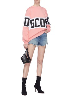 GCDS Logo print colourblock sweatshirt