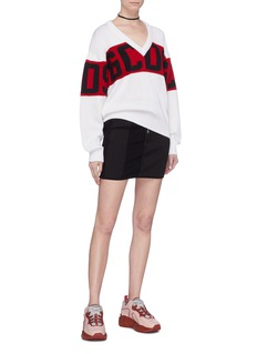 GCDS Colourblock logo intarsia wool-dralon® sweater