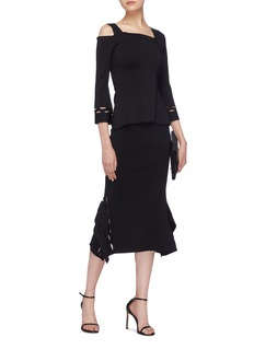 Roland Mouret 'Felthorpe' cutout peak panel skirt