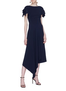 Roland Mouret 'Warren' asymmetric drape dress