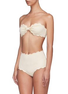 Marysia 'Antibes' scalloped bandeau top