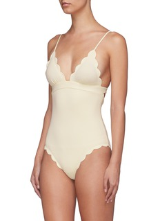 Marysia 'Santa Clara' scalloped one-piece swimsuit