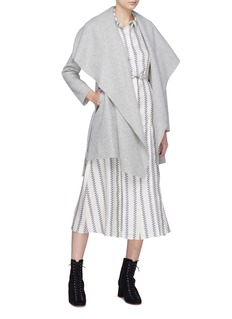 Harris Wharf London Belted wool melton blanket coat