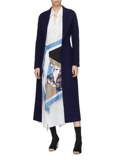 Harris Wharf London Belted cashmere melton duster coat