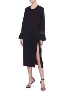 Christopher Esber Detachable cuff side split dress