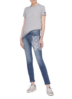 Sandrine Rose 'The Hyde' geometric embroidered skinny jeans