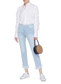 Frame Denim 'Le High' shredded cuff jeans