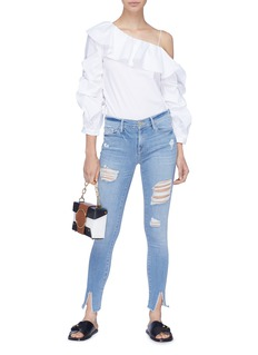 Frame Denim 'Le Skinny de Jeanne' split cuff ripped jeans