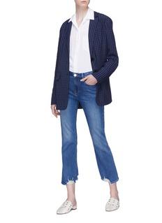 Frame Denim 'Le Crop Mini Boot' ripped cuff jeans