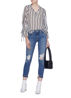 Frame Denim 'Le High Skinny' staggered cuff jeans