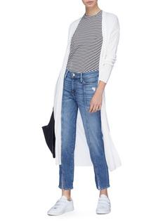 Frame Denim 'Le Nouveau Straight' center seam felt split cuff jeans