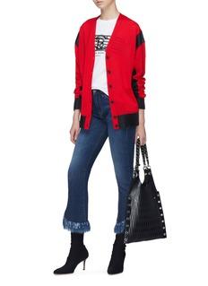 Sonia Rykiel Colourblock wool blend cardigan