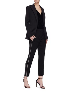 Sonia Rykiel Strass stripe outseam crepe pants