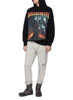 R13 'Megadeth' graphic print hoodie
