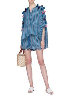 Figue 'Mia' tassel stripe kaftan top