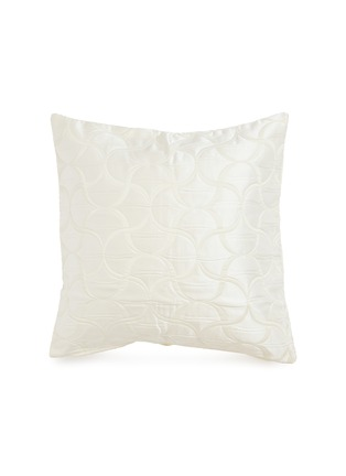 Main View - Click To Enlarge - FRETTE - Tile small cushion cover –Milk