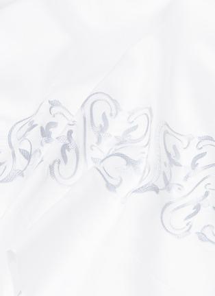 Detail View - Click To Enlarge - FRETTE - Ornate Medallion queen size duvet set – White/Blue