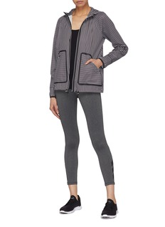 Monreal London 'Wave' hooded stripe performance windbreaker jacket