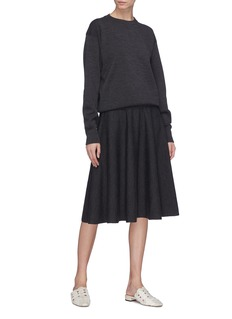 The Row 'Allesia' flared virgin wool blend knit skirt