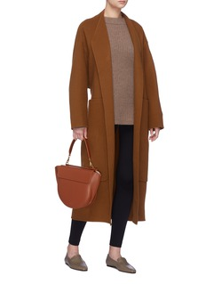 The Row 'Nooman' oversized patch pocket cashmere coat