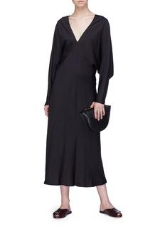 The Row 'Dan' batwing sleeve silk satin bias dress