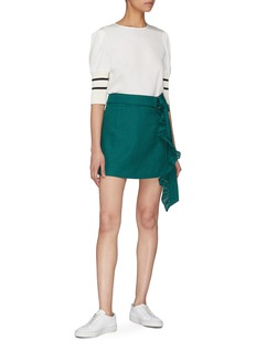 Maggie Marilyn 'Got My Mind Made Up' belted ruffle drape skirt