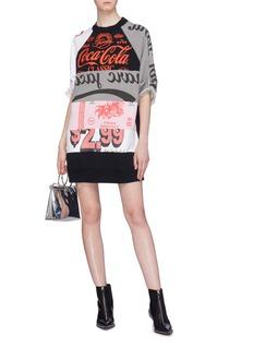 Marc Jacobs Patchwork graphic print sweatshirt dress