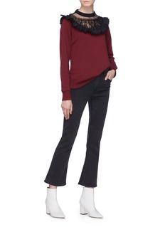 Marc Jacobs Ruffle lace tulle yoke sweatshirt