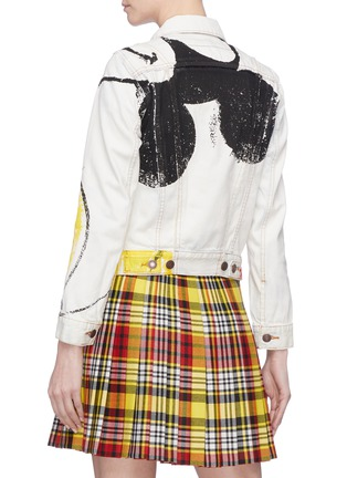 Back View - Click To Enlarge - Marc Jacobs - x Disney Mickey Mouse print bleached denim jacket