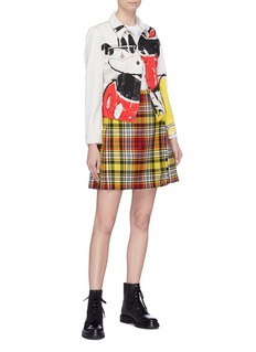 Marc Jacobs x Disney Mickey Mouse print bleached denim jacket