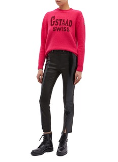 Moncler 'Gstaad Swiss' slogan jacquard sweater