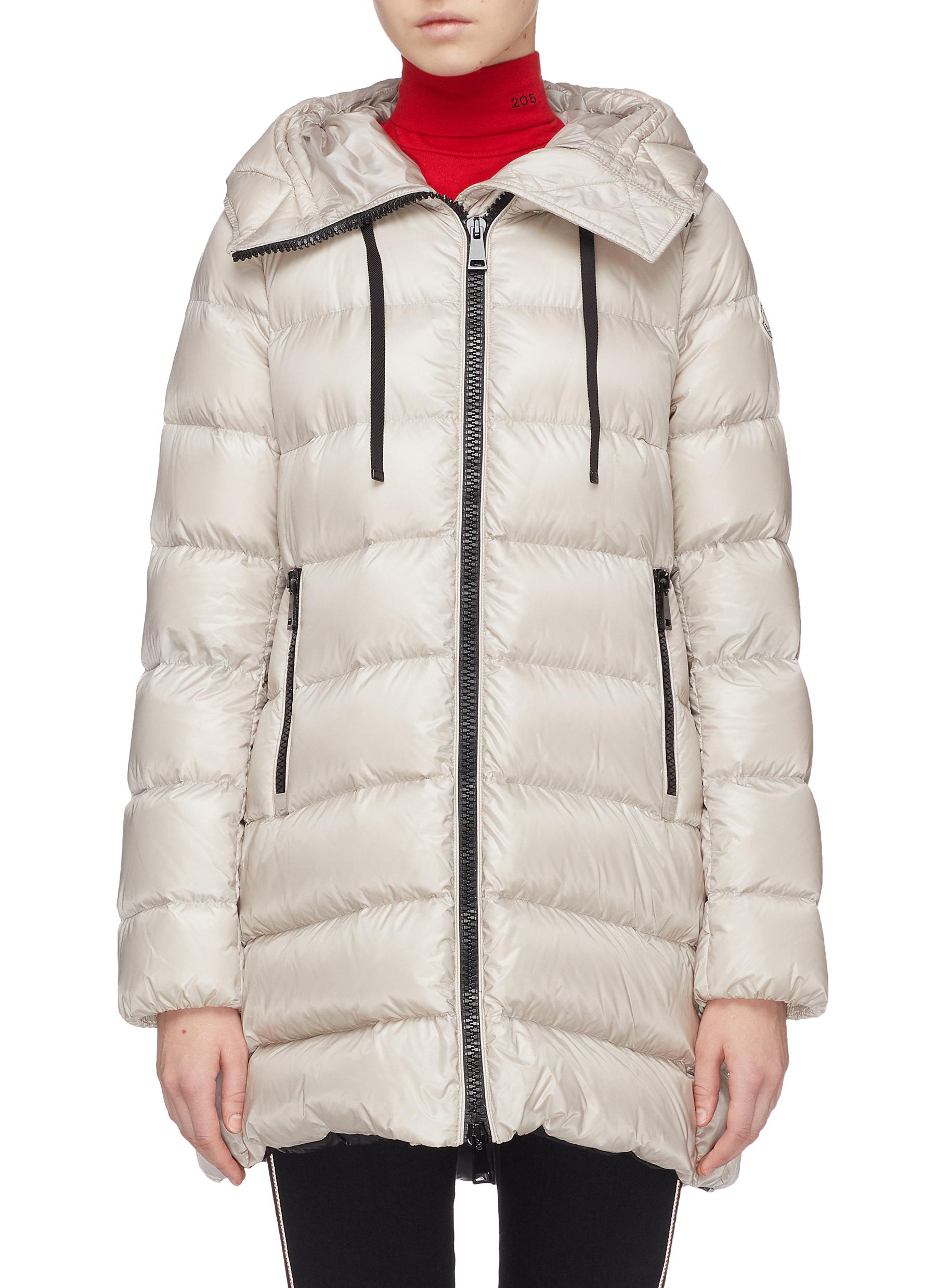 Main View - Click To Enlarge - Moncler - 'Suyen' hooded down puffer coat