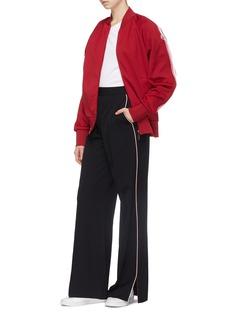 Moncler Stripe sleeve track jacket