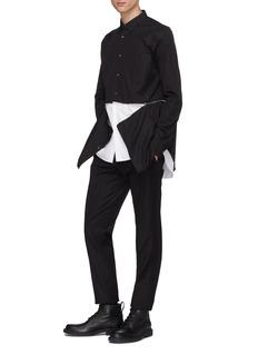 Alexander McQueen Zip waist layered hem shirt