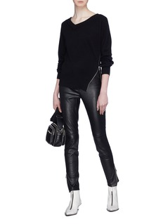 Alexander Wang  Zip outseam twist sweater