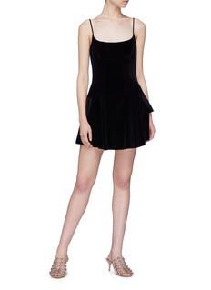 Alexander Wang  Peplum velvet mini camisole dress