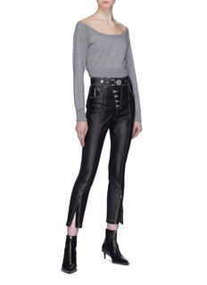Alexander Wang  Mesh yoke cropped sweater