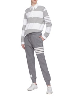Thom Browne Stripe cashmere-cotton knit sweatpants